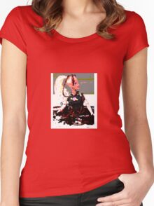 barbie in worms  Women's Fitted Scoop T-Shirt