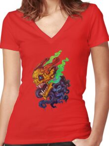 FUMUS Women's Fitted V-Neck T-Shirt
