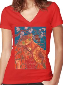 Kitsune Women's Fitted V-Neck T-Shirt