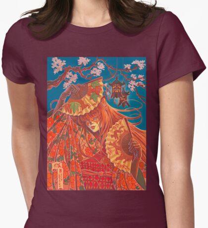 Kitsune Womens Fitted T-Shirt
