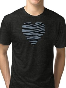 0379 Light Slate Gray Tiger Tri-blend T-Shirt