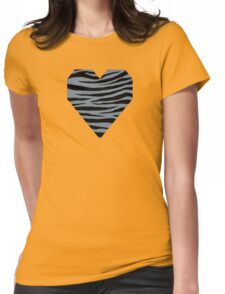 0379 Light Slate Gray Tiger Womens Fitted T-Shirt