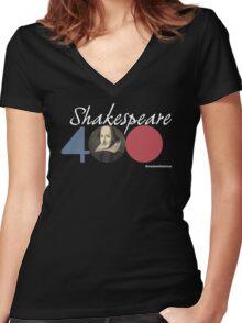 Shakespeare 400 Women's Fitted V-Neck T-Shirt