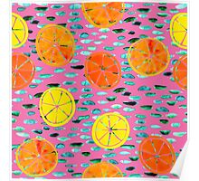 Citrus Lily Pads Poster