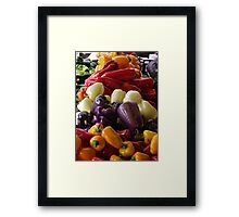 Colorful Peppers, Jersey City Farmers Market, Jersey City, New Jersey Framed Print