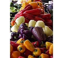 Colorful Peppers, Jersey City Farmers Market, Jersey City, New Jersey Photographic Print