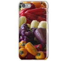 Colorful Peppers, Jersey City Farmers Market, Jersey City, New Jersey iPhone Case/Skin