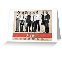 The West Wing Retro Poster Greeting Card