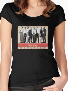 The West Wing Retro Poster Women's Fitted Scoop T-Shirt