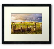 Australian Countryside Landscape Framed Print