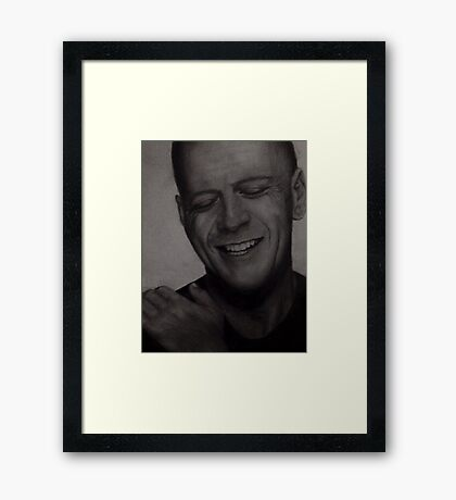 Bruce Willis Wall Art Framed Print