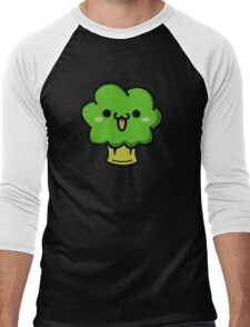 Cute broccoli Men's Baseball ¾ T-Shirt