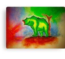 Sun -Colored Bear Canvas Print