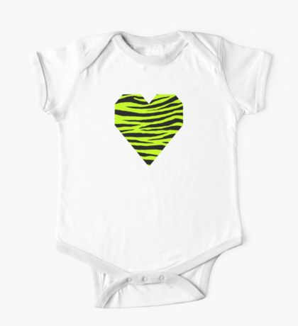 0383 Lime (Color Wheel), Lime (WWW), Electric Green or Bitter Lime Tiger One Piece - Short Sleeve