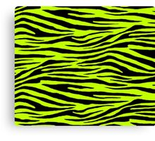 0383 Lime (Color Wheel), Lime (WWW), Electric Green or Bitter Lime Tiger Canvas Print