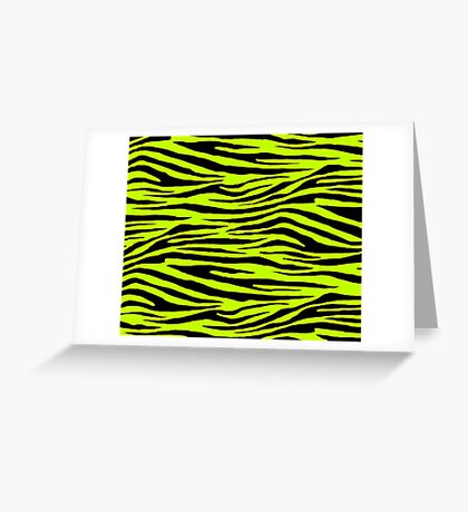 0383 Lime (Color Wheel), Lime (WWW), Electric Green or Bitter Lime Tiger Greeting Card