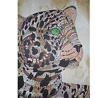 SESHAT - ORIGINAL NATIVE AMERICAN LEOPARD HEALING EGYPTIAN TOTEM ART Photographic Print
