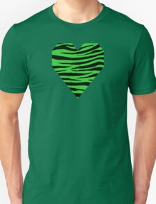 0384 Lime Green Tiger Unisex T-Shirt