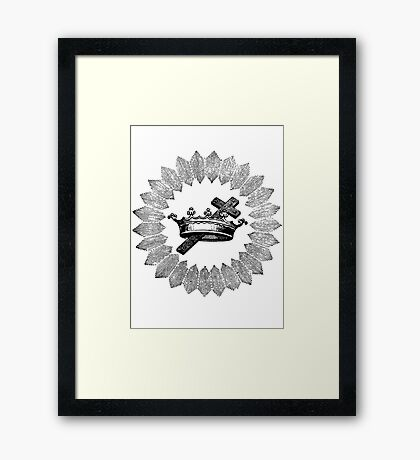 Cross and Crown Framed Print