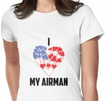 I love My Airman - Flag Heart Womens Fitted T-Shirt