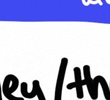 Pronouns Series: they/them Sticker