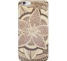 Blooming Mandala - Native American Flower Zentangle iPhone Case/Skin