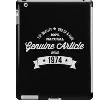 Vintage 1974 iPad Case/Skin
