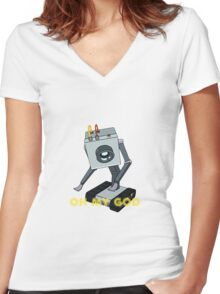 Rick and Morty // Butter Robot Women's Fitted V-Neck T-Shirt