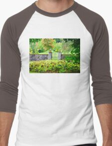 Leith Hall Gardens (Huntly, Aberdeenshire, Scotland) Men's Baseball ¾ T-Shirt