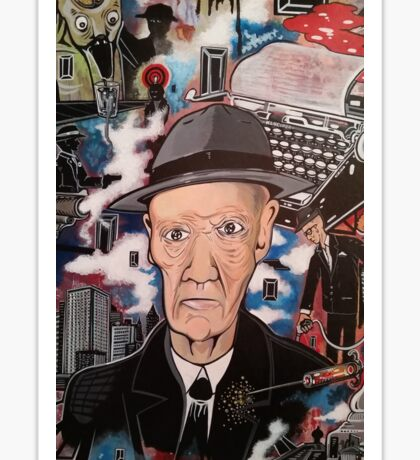 William S. Burroughs. Naked Lunch Sticker