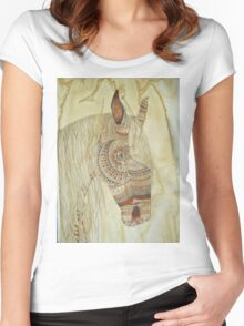 GYPSY - NATIVE AMERICAN HORSE HEALING TOTEM ART Women's Fitted Scoop T-Shirt