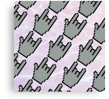 Pixel Hands, Aesthetic Water Canvas Print