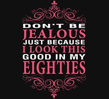 Don't Be Jealous - 80s Women's Fitted V-Neck T-Shirt