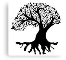 Tree of Peace - Black Canvas Print