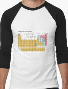 Periodic Table Of The Elements Men's Baseball ¾ T-Shirt