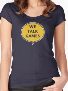 We Talk Games Official Logo (punched) Women's Fitted Scoop T-Shirt