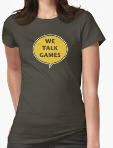 We Talk Games Official Logo (punched) Womens Fitted T-Shirt