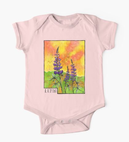 Lupin Flowers One Piece - Short Sleeve