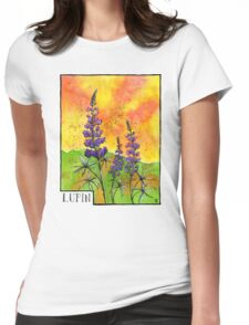 Lupin Flowers Womens Fitted T-Shirt