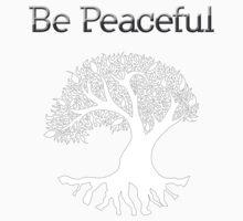 Be Peaceful Tree - White Kids Tee