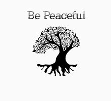 Be Peaceful Tree - Black Unisex T-Shirt