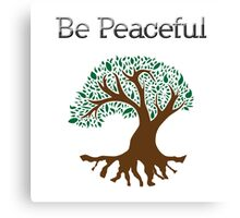 Be Peaceful Tree - Color Canvas Print