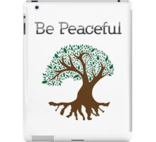 Be Peaceful Tree - Color iPad Case/Skin