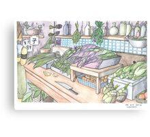 Vegetable Shop Canvas Print