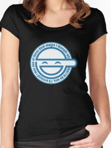 laugh man Women's Fitted Scoop T-Shirt