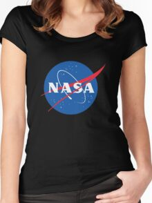 old retro nasa Women's Fitted Scoop T-Shirt