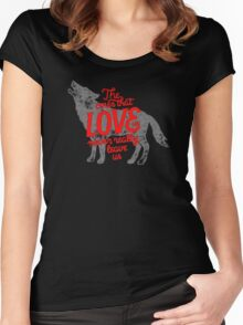 The ones that love us never really leave us Women's Fitted Scoop T-Shirt