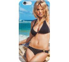 Sexy Young Blonde Bikini Model Posing on Hawaiian Beach iPhone Case/Skin