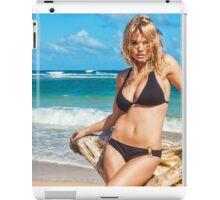 Sexy Young Blonde Bikini Model Posing on Hawaiian Beach iPad Case/Skin