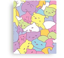 Mitchiri Neko Kittens Canvas Print